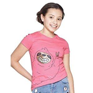 Cat & Jack Glitter Sloth  T-Shirt, Small
